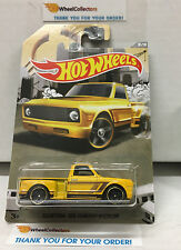 Custom '69 Chevy Pickup YELLOW * 2016 Hot Wheels * Truck Series Walmart * N100