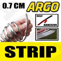 0.7 CM plastic Chrome Strip Trim + 3M adhesive detail styling edging grill dash
