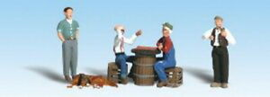Woodland Scenics A1848 HO Checker Player Figures & Accessories (Pack of 6)