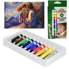 **10 Tube Pack Oil Colour Art Crafts Paint Set  Oil Craft Artist Paints New**