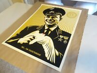 "2007 Shepard Fairey Obey Giant ""No I'm Vegetarian"" PRINT STREET PASTER POSTER 1"