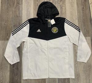 COLUMBUS CREW Adidas Tiro Windbreaker Jacket White Black Men's Size Large