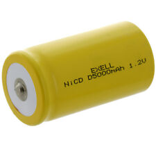 Exell D Size 1.2V 5000mAh NiCD Button Top Rechargeable Battery FAST USA SHIP