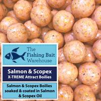 Salmon & Scopex X-TREME Attract Glugged Boilies - 15mm/20mm  PVA Friendly - Carp