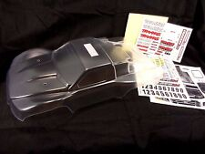 NEW TRAXXAS SLASH PLATINUM LCG 6804 CLEAR LEXAN BODY WITH DECALS 4x4 4wd 2wd