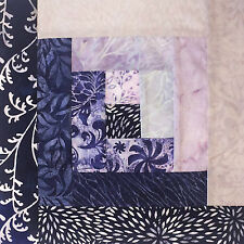 Jordan Fabrics Pre-Cut 12 Block Log Cabin Quilt Kit - Hoffman Batiks: Eclipse
