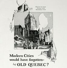 1926 Chateau Frontenac Print Ad - Old Quebec - Apr 1926