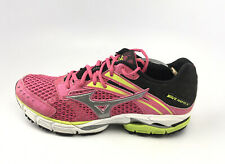 Mizuno Wave Inspire 9 Women's Running Shoes Size 9.5 M Pink/Green/Black/