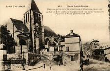 CPA PARIS (20e) Place Saint-Blaise. Eglise St-Germain de Charonne (539036)