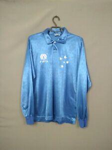 Cruzeiro Shirt Match Worn 1995 Long Sleeve LARGE Jersey Camiseta Finta ig93