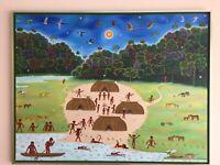 Waldemar De Andrade e Silva    Brasilien  Indios  Xingu      Original Gemälde