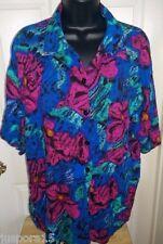 Brittany Nicole Ii Woman's Plus Multi Color Floral Button Down Shirt Size 20