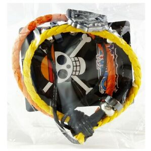 One Piece PU Leather Bracelet Portgas D Ace Anime Cosplay Japan Authentic 4515A