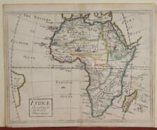 AFRICAN CONTINENT 1710ca PATICK GORDON ANTIQUE ORIGINAL COPPER ENGRAVED MAP