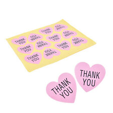 Pink Heart-shaped For Thank You Packaging Sealed Sticker Sticker for Wedding ATA