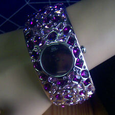 JLO Bangle Purple/Pink Crystal Watch