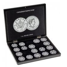 Leuchtturm Nr. 348034 Münzkassette für 20 Maple Leaf-Silberunzen in Kapseln