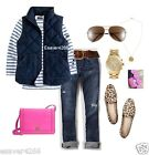 NWT J.Crew Excursion Quilted Novelty Puffer down Vest Navy Blue XS S M L XL XXL