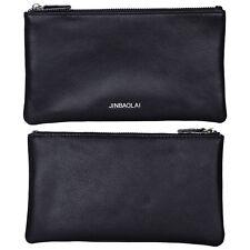 Men's Billfold Leather Zipper Wallet Clutch Money Clip Coin Purse Phone Handbag