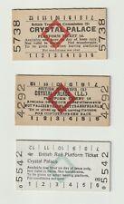 British Railway History: BR(S) CRYSTAL PALACE LL platform ticket BTC three items