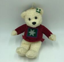 "Hallmark Kiss Kiss Mistletoe Bear Stuffed Animal Plush Christmas Winter 9 1/2"" T"