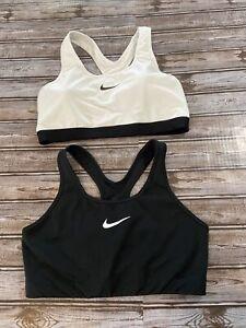 Nike Pro Classic Raceback Sports Bra LOT 2 WHITE/BLACK SZ XL