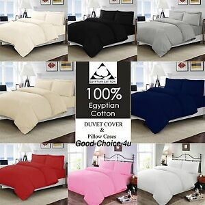 100% REAL Egypt Cotton Duvet Cover Set Quilt Cover Pillow Cases & Bedding Set