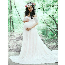 Pregnant Women Lace Long Maxi Dress Maternity Gown Photo Shoot Photography Props