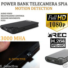 Spy Camera Spia  HD MOTION DETECTION TELECAMERA NASCOSTA POWERBANK