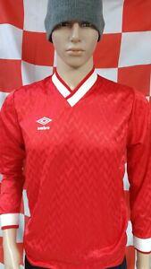1980's Long Sleeved Official Original Umbro Football Shirt (Adult Small)