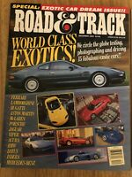 Road & Track Magazine December 1994 - World Class Exotics