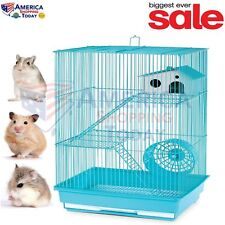 Hamster Gerbil Mouse Pet Cage 3 Level Pig Rat Home Wire Small Animal Pet House