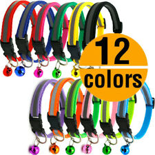 12PCS Lot XXS/XS Small Dog Collar Reflective Cat Puppy Nylon Necklace With Bell