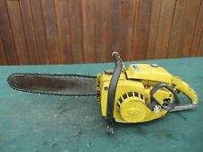 "Vintage PIONEER 1420  Chainsaw Chain Saw with 15"" Bar"