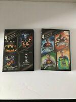 Used BATMAN (4 FILMS) & New sealed SUPERMAN (4 FILMS) DVD BUNDLE