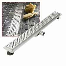 """1100mm Stainless Steel Long """"Rectangular"""" Wetroom / Shower Drainage System"""