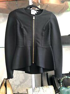 """HERVE LEGER Black Zip Front """"Jaelynn"""" Blazer/Jacket Style#HLT4J527 Sz XS $1190"""