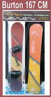 Snowboard Burton Brand 167 CM w Bindings Brown nice gloss in   San Diego