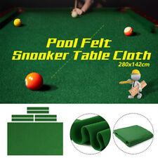 US 9ft Worsted Billiard Pool Table Cloth Pool Felt Snooker Green + 6 Felt Strips