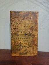 World Map Book Box Hidden Jewelry Secret Fake Faux Storage Treasure Gift
