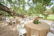 """90"""" ROUND Natural BURLAP TABLECLOTH Table Cover Wedding Party Catering"""
