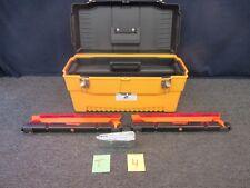 Stack-On Plastic Tool Box Black Yellow Portable Roadside Kit Reflective Triangle