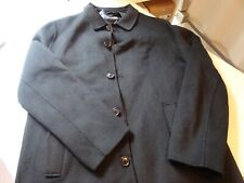 NEW MEN'S ZARA WOOL BLEND COAT BLACK SIZE XL favorite jacket LONG