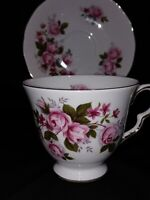 Vintage Queen Anne Pink Rose Teacup & Saucer