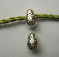 15pcs Tibetan silver big hole doll Charm Spacer beads  13x9x8.5 mm