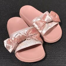 WONDER NATION YOUTH GIRLS SANDALS WHITE WITH SILVER SIZE 1 NEW WITH TAGS