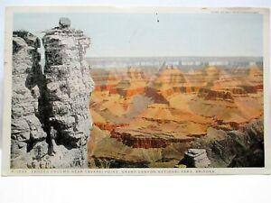 1920 FRED HARVEY POSTCARD ERODED COLUMN,YAVAPAI POINT GRAND CANYON NAT'L PARK AZ