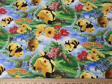 Pillow Pets Plush Toy Honey Bee Hive Flower Fabric BTY yard 36x44 Yellow Black
