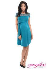 Purpless Maternity Short Sleeved Pregnancy Dress Dresses Polka Dot Lace D004