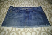 ABERCROMBIE & FITCH WOMAN DISTRESSED DENIM MINI SKIRT SIZE 10 GREAT CONDITION
